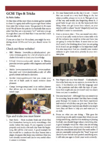 GCSE Tips & Tricks
